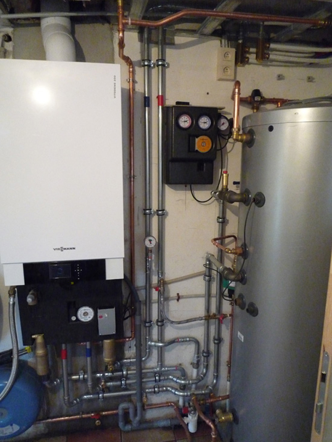 Boiler Installation and Solar Hot Water Tank